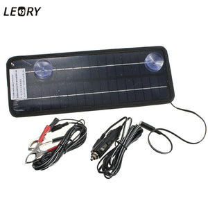 LEORY 12V 4.5W Solar Panel Portable Monocrystalline Solar Cells Power Charger DIY Module Battery System For Car Automobile Boat