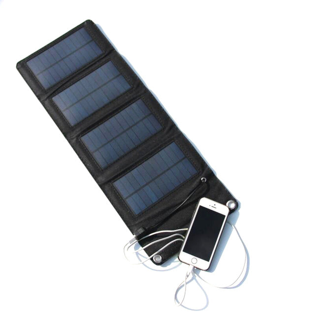 GOLDFOX 7W 5.5V Portable Folding Foldable Capming Solar panel Charger USB Solar Battery Panel Mobile Phone Power Bank Charger - Trivoshop