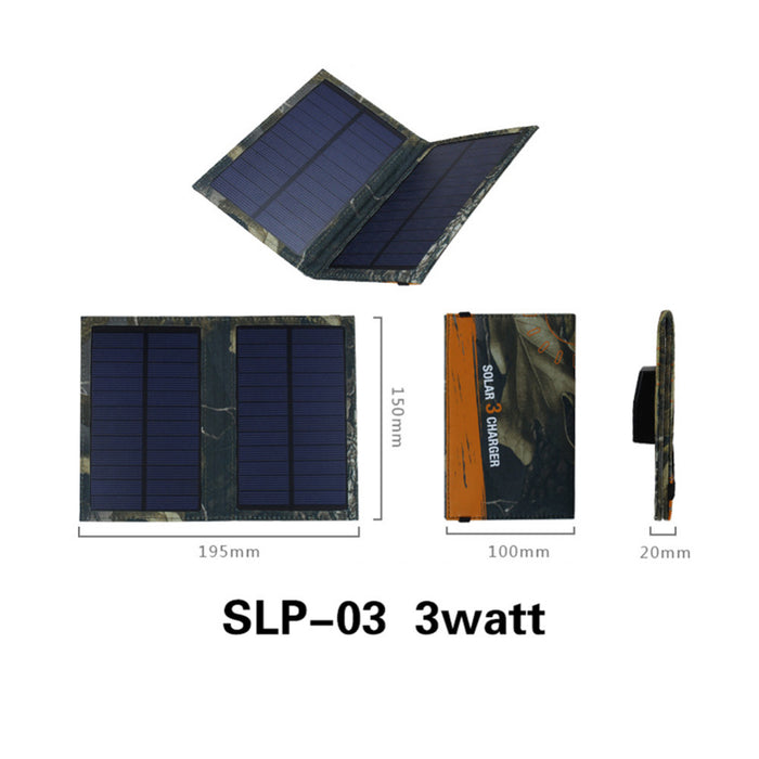 Portable Solar Power Bank 3W Foldable Portable Powerbank Cell USB Solar Panel Charger For Iphone Battery