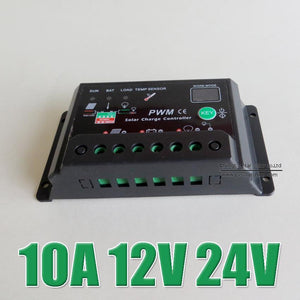 Hot Sale 10A 12V 24V Solar Cell panels Battery Charge regulator