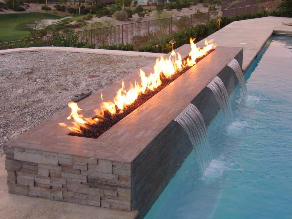 on sale outdoor fireplace with stainless steel  62 inch  ethanol burner