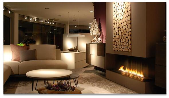 Wifi Remote control modern ethanol fireplace burner