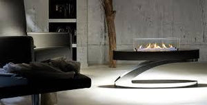 Wifi Remote control modern coffee table fireplace
