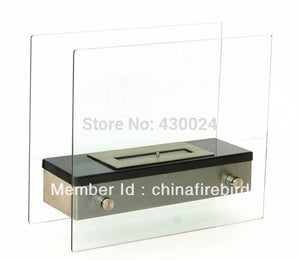 ethanol fireplace FD49 + stainless steel + table top model