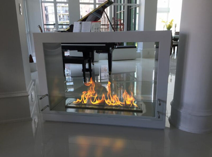 On sale outdoor fireplace with bio ethanol burner smart control 30 inch decorative fireplaces