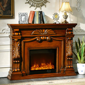 wood mantel electric fireplace - Trivoshop