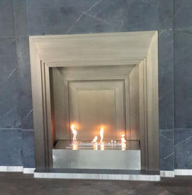 Intellgent silver ethanol wall mount electric fireplace - Trivoshop