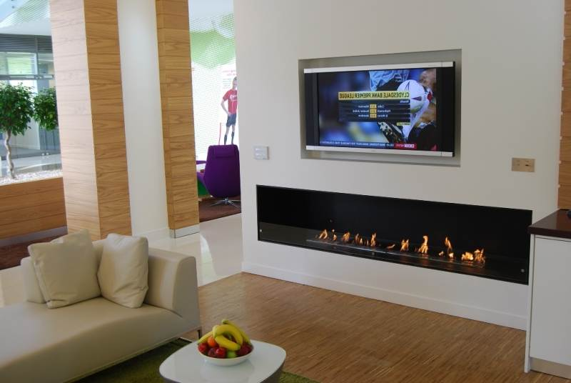 wifi bio ethanol electric tv stand fireplace
