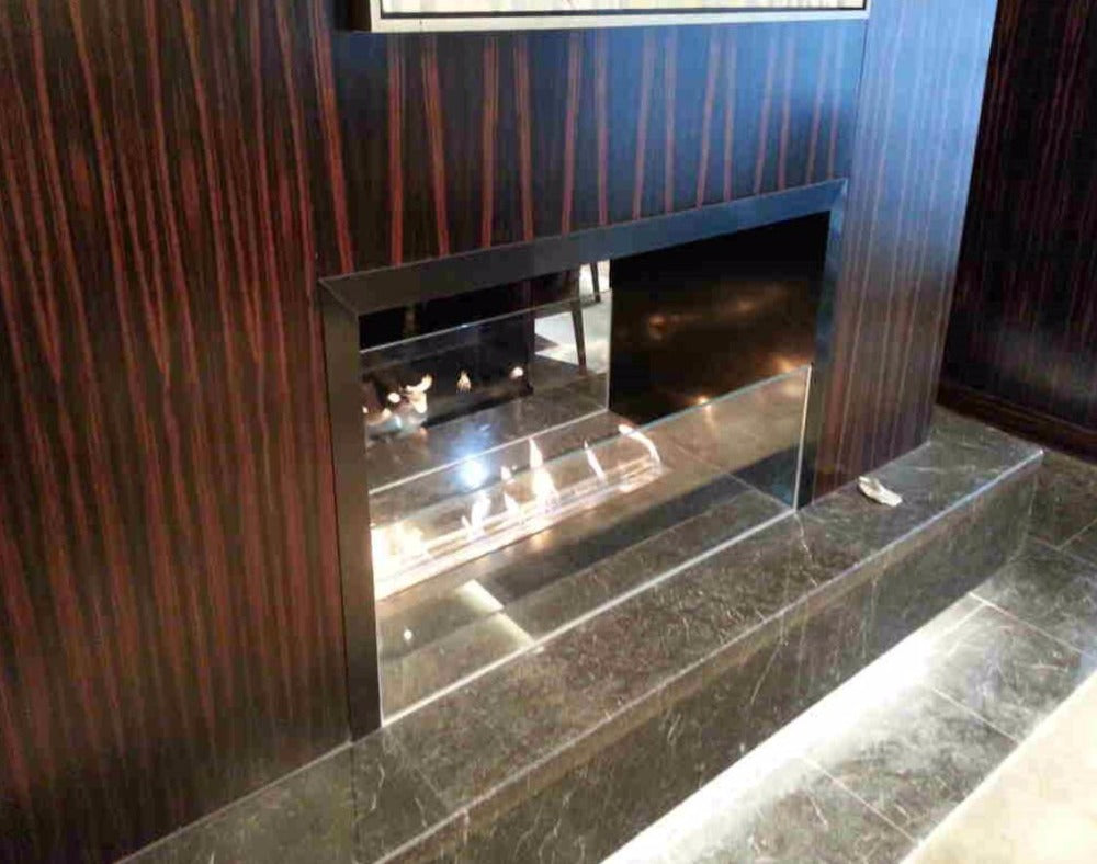 intelligent ethanol fireplaces corner