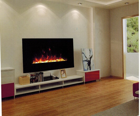 Wall Mount Electric fireplace imitation