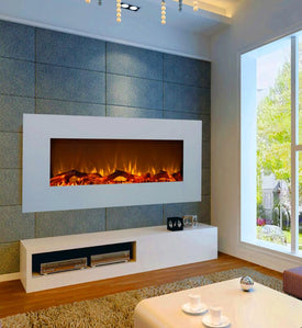 white G-01-2 hanging decor flame electric fireplace