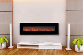wall mounted antique electric fireplace