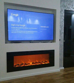 wall mount and embedded electric fireplace