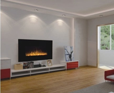 wall mounted electric fireplace burner