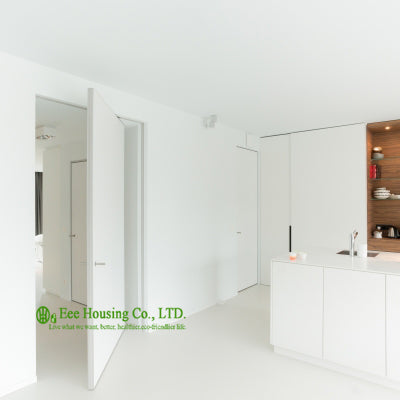 White color pivot doors, modern interior pivot doors