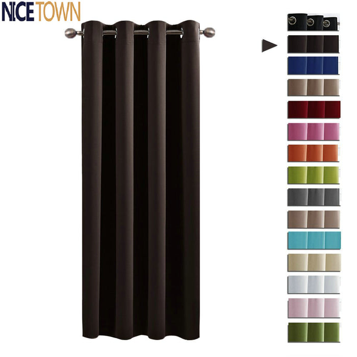 NICETOWN Blackout Window Curtains / Drapes for Living Room Thermal Insulated Grommet / Rod Pocket / Hooks Top for  Bedroom