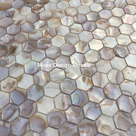 Natural White hexagon Oyster Mother of Pearl shell mosaic tile kitchen shower wallpaper bath DIY Cabinet decoration Wall sticker