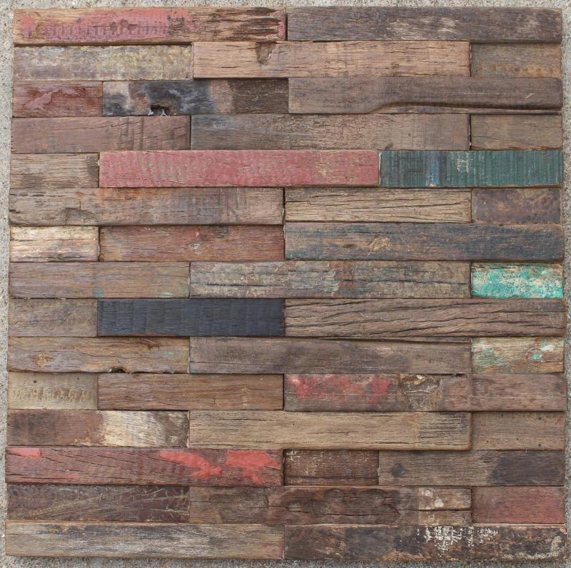 3D rustic natural wood mosaic tile