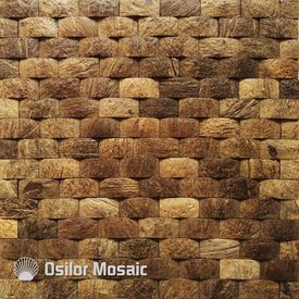 Natural 100% coconut shell mosaic tile for house decoration Southeast Asia style wall tiles for hotel decoration