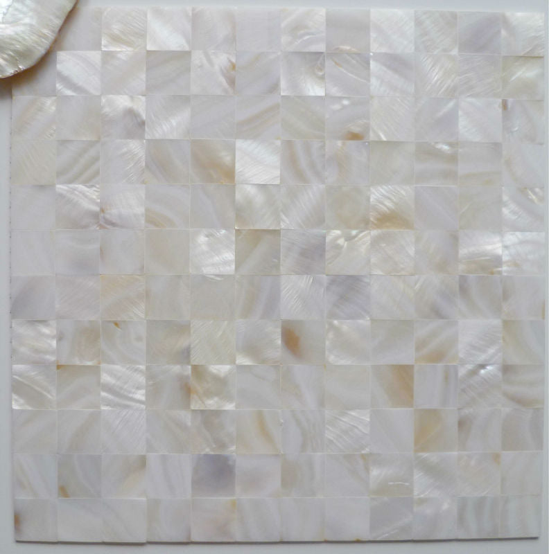 pearl Natural white shell mosaic tiles