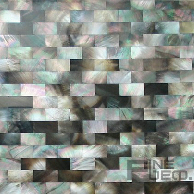 100% natural seashell mother of pearl Black MOP shell mosaic tile seamless on mesh bathroom mosaic tile - Trivoshop.com
