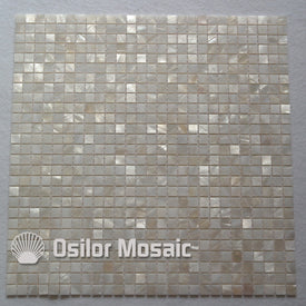 Natural 100% white Chinese freshwater shell mother of pearl mosaic tile for bathroom decoration 10x10mm chip size wall tile