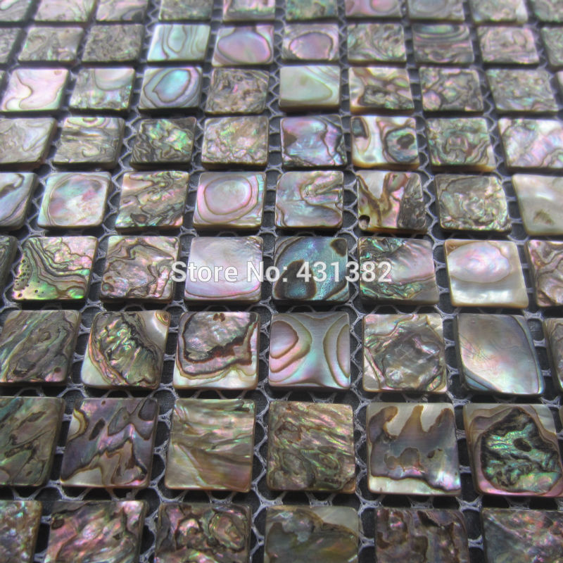 Abalone shell green mosaic tile