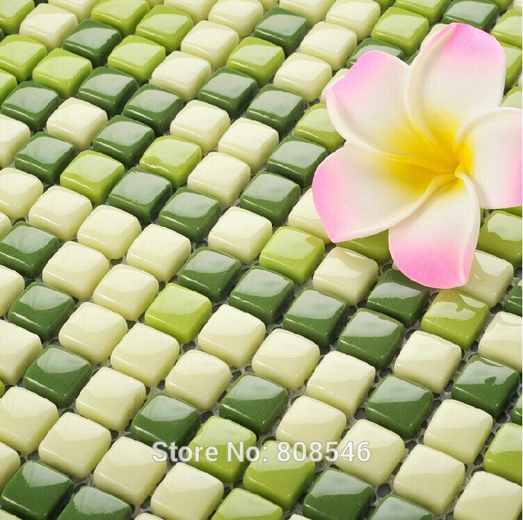 Pastoral Green Glass glass mosaic tile MD-1352 kitchen backsplash shower bath living room swimming pool wall sticker floor  tile