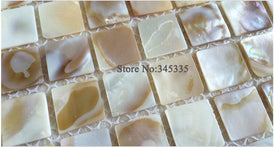 Natural colorful square shell mosaic tile mother of pearl kitchen backsplash bathroom tiles background wall home wallpaper