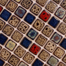 vintage style mixed colors brown Ceramic porcelain mosaic tile  kitchen backsplash bathroom floor tiles fireplace mosaic