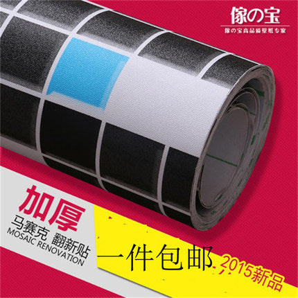 Special high temperature resistant Mosaic tile the oil sticker waterproof stick wall stick the kitchen stove oil wallpaper-79