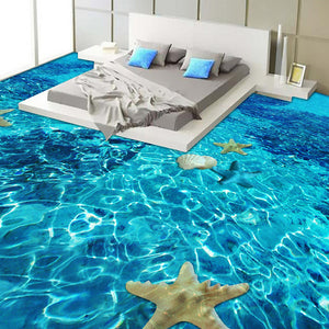 3D Stereo Sea starfish Flooring Wallpaper