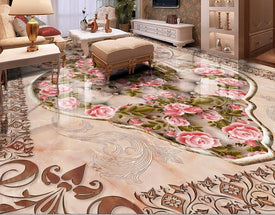 european pattern rose 3D Wallpaper - Trivoshop