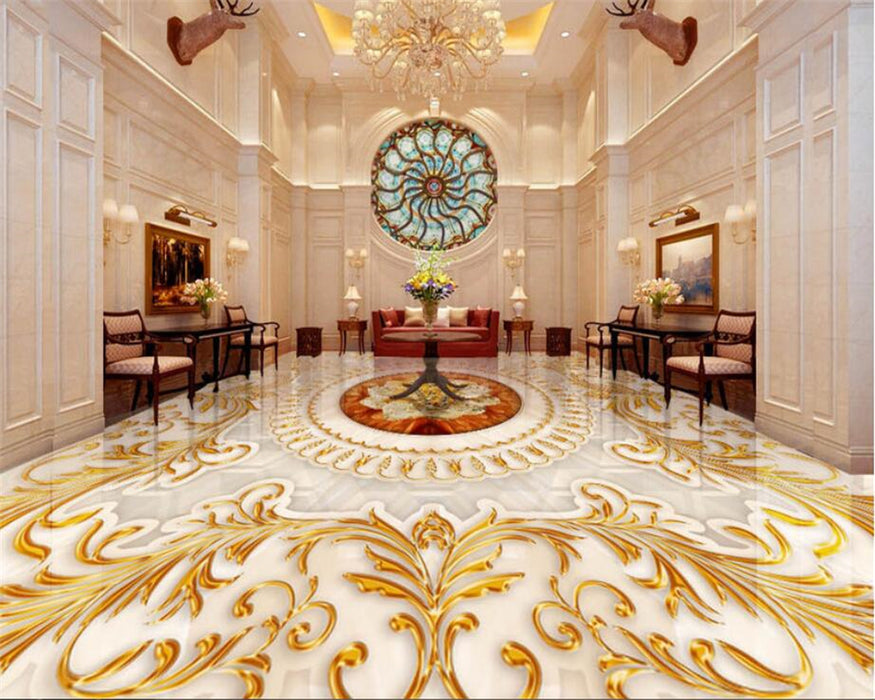 luxurious gold rose marble 3D Wallpaper
