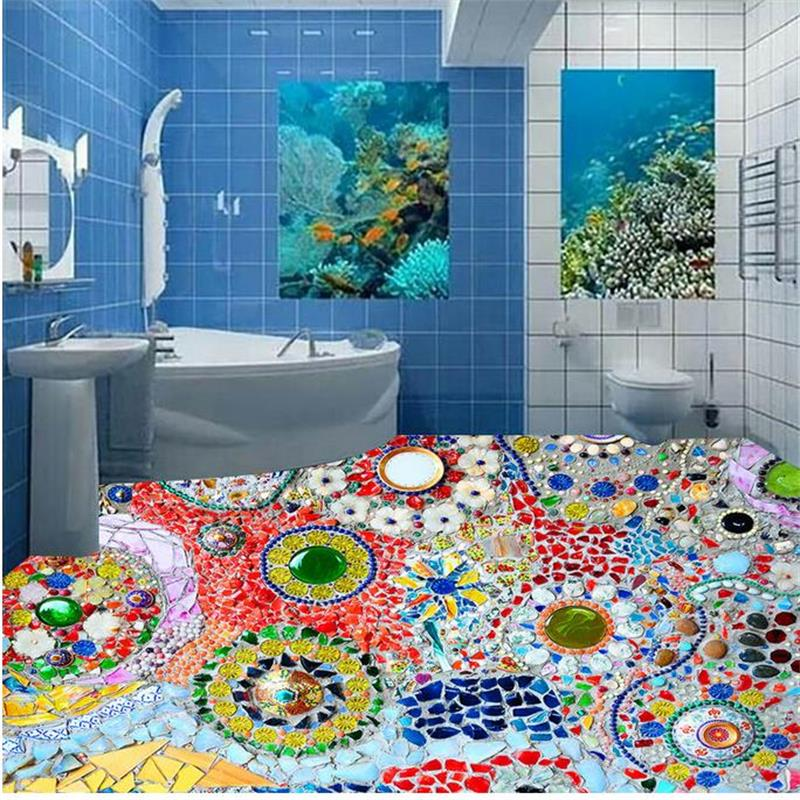 mosaic colored stone 3D Wallpaper