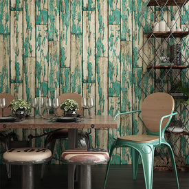 beibehang retro wood imitation 3D wallpaper
