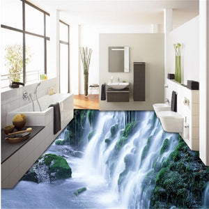 outdoor magnificent waterfall3D Wallpaper