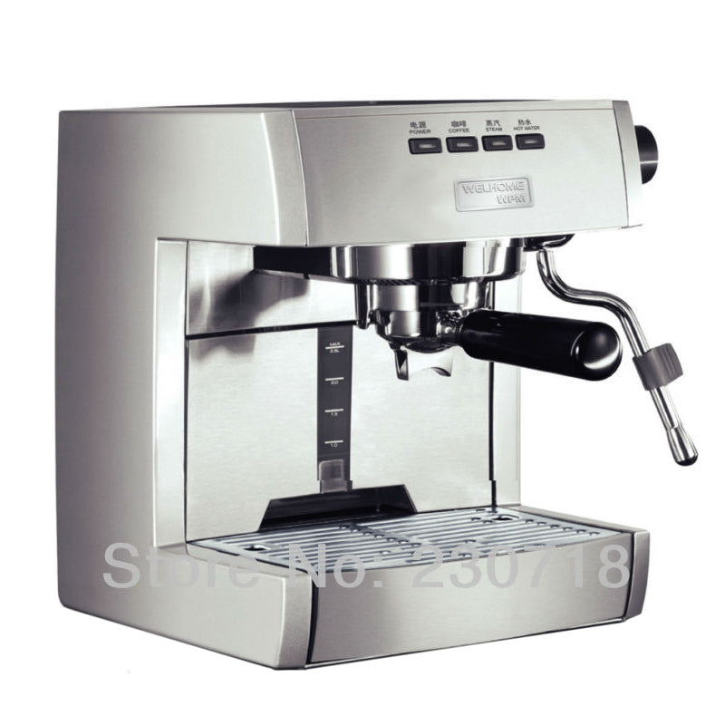 WPM Semi-auto Coffee Machine welhome KD-135A Coffee maker Espresso Coffee Machine Twin Thermo-block Espresso Machine