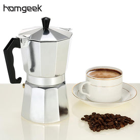 Homgeek Coffee Maker 3cup/6cup/9cup/12cup Aluminum Espresso Percolator Coffee Stovetop Maker Mocha Pot For Home - Trivoshop