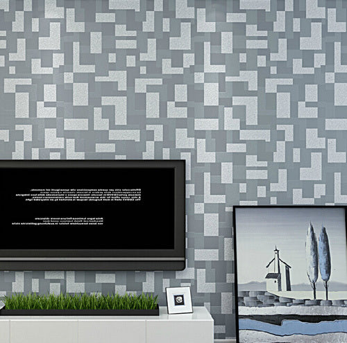 3D stereoscopicl modern fashion woven mosaic wallpaper