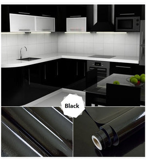 10M DIY Decorative Film Vinyl Self adhesive Wall Paper Furniture Renovation Wall Stickers Kitchen Cabinet Waterproof Wallpaper - Trivoshop.com