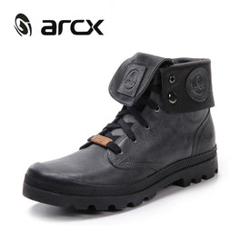 ARCX Motorcycle Boots Retro Biker Men Leather Motorcycle Shoes Riding Leisure Shoes Knight Motorbike Shoes Moto Short Boots