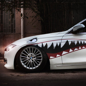 1 Pair Car Sticker Decal Shark Mouth Warhawk 2 Design Vinyl 150x51cm Tuning Auto Car Styling Accessories - Trivoshop.com