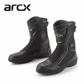 ARCX Leather Motorcycle Boots summer Breathable Mid-calf shoes Racing Motorbike botas Racing Boot Motorcycle boots