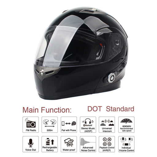 Half Face Built in FM Intercom Helmet