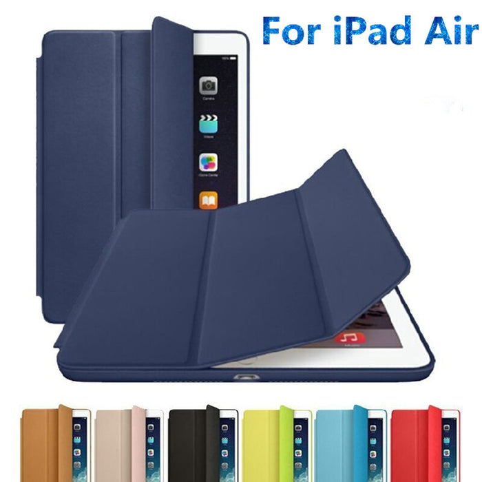 "Ultra thin Leather Smart Cover with Stand case for Apple ipad air 1 9.7"" A1474`A1475`A1476 + Gift Fidget Spinner"