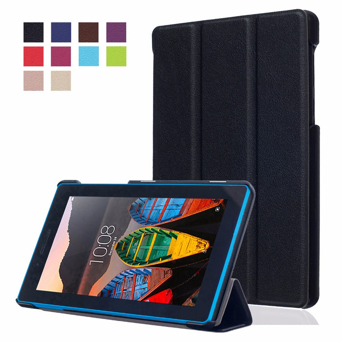 "PU Leather Magnet Stand Case Protective Cover For Lenovo Tab3 Tab 3 7 730 730F 730M 730X TB3-730F TB3-730M 7"" Tablet"