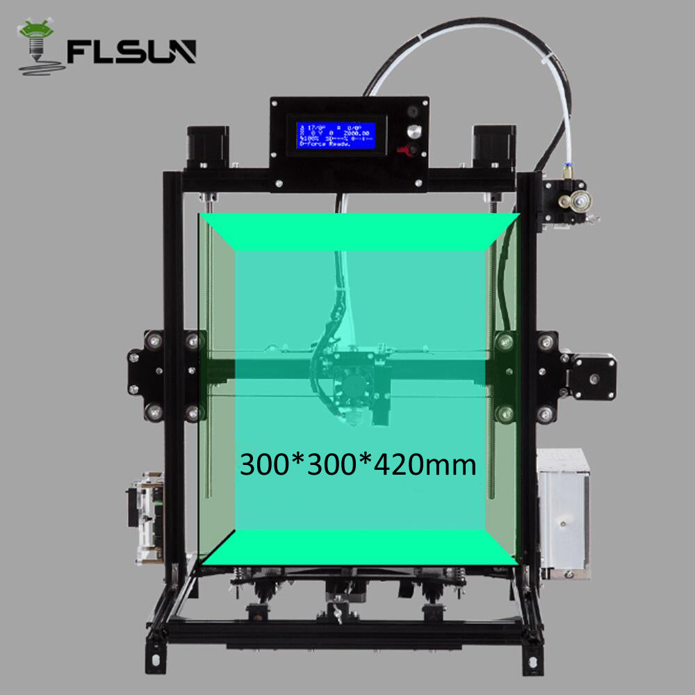 full metal frame 3D Printer Large Printing Size 300*300*420mm Double Extruder Touch Screen DIY 3d-printer Kit With Heated Bed