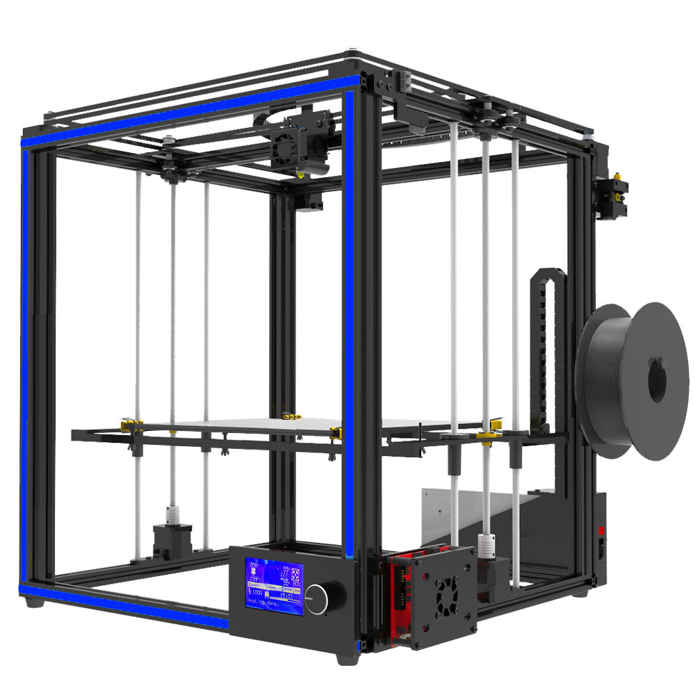 Newest big print size Tronxy X5S 3D Printer Big Print Area CoreXY System aluminium structure 12864P LCD 8G SD card