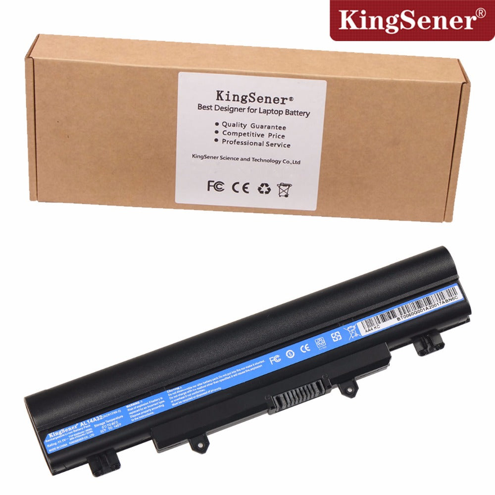 11.1V 5000mAh KingSener New AL14A32 Laptop Battery For Acer E14 E15 E5-411 E5-421 E5-471 E5-511 E5-551 E5-572 V3-572 AL14A32 - Trivoshop.com